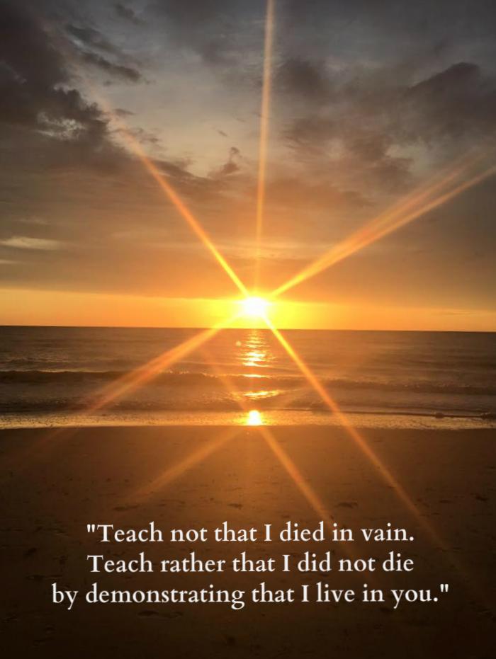 teach not that i died in vain